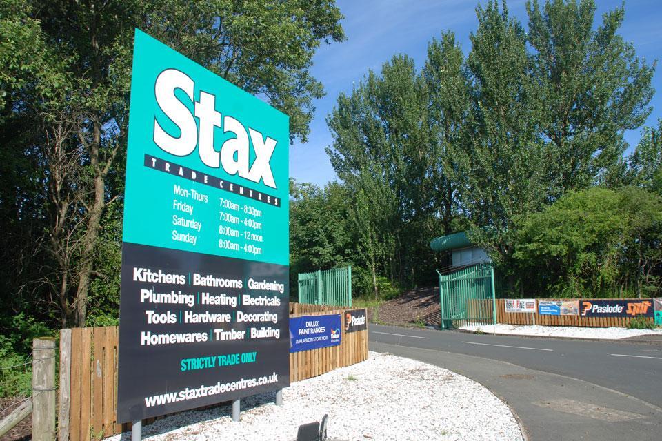 Stax Entrance Signage