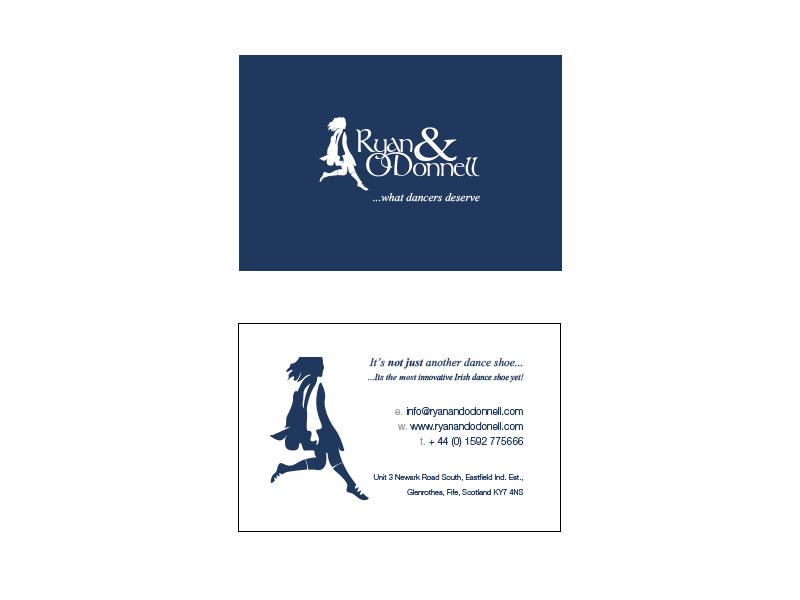 AE Struthers Business Card Layout