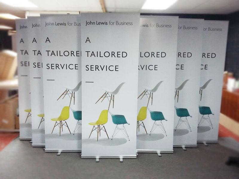John Lewis for Business Roller Banners