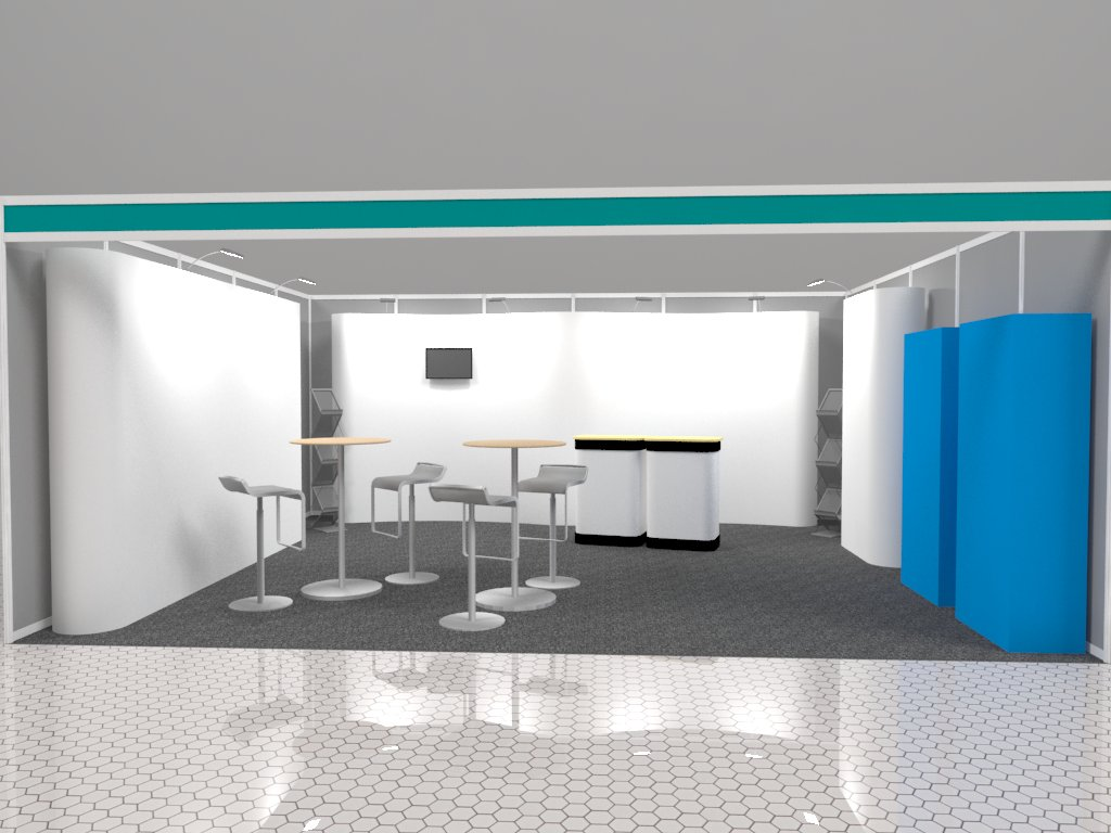 Scotmas Reconfigurable Stand Layout