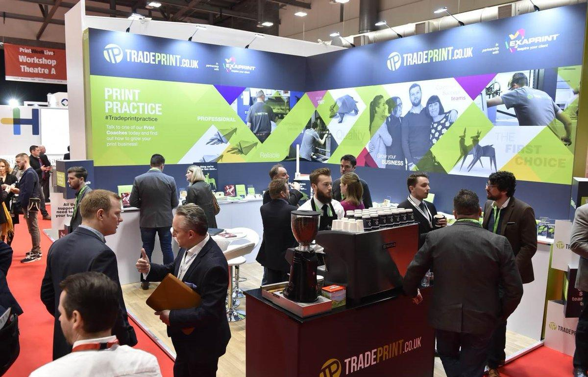 Trade Print Exhibition Stand at Print Week Live 2017