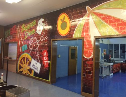 Largs School Canteen Walls